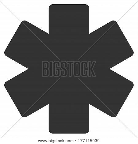 Multiply Math Operation vector icon. Flat gray symbol. Pictogram is isolated on a white background. Designed for web and software interfaces.