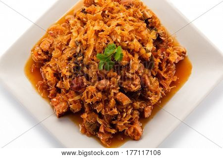 Goulash - meat and cabbage