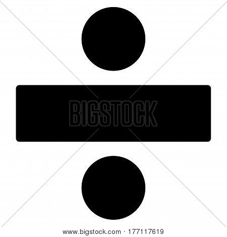 Divide Math Operation vector icon. Flat black symbol. Pictogram is isolated on a white background. Designed for web and software interfaces.