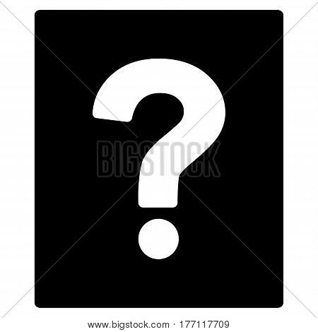 Help vector icon. Flat black symbol. Pictogram is isolated on a white background. Designed for web and software interfaces.