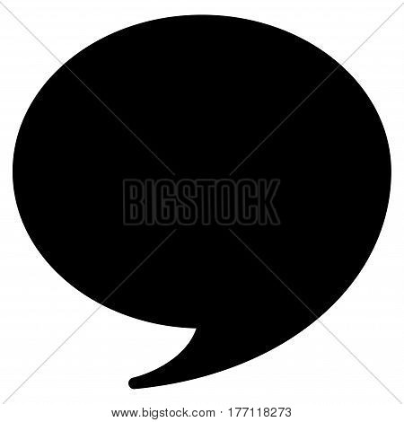 Quote vector icon. Flat black symbol. Pictogram is isolated on a white background. Designed for web and software interfaces.
