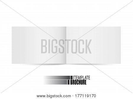 Vector blank brochure on white background. Template for design
