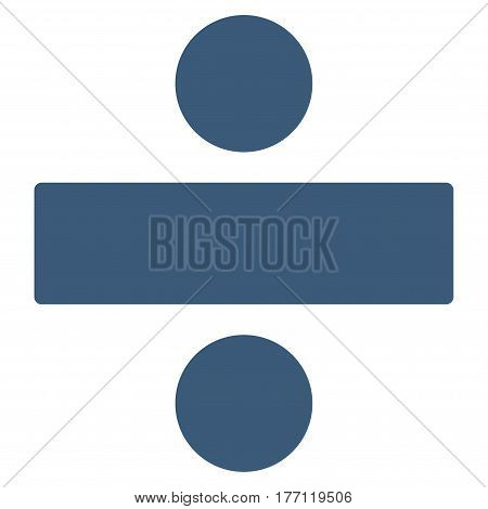 Divide Math Operation vector icon. Flat blue symbol. Pictogram is isolated on a white background. Designed for web and software interfaces.