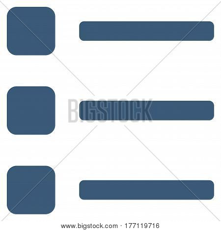 Items vector icon. Flat blue symbol. Pictogram is isolated on a white background. Designed for web and software interfaces.