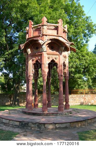 The Qutb Minar Monument Site In New Delhi, India