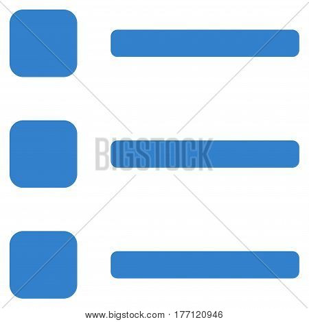 Items vector icon. Flat cobalt symbol. Pictogram is isolated on a white background. Designed for web and software interfaces.