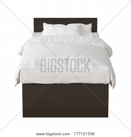 Twin Size Bed Isolated