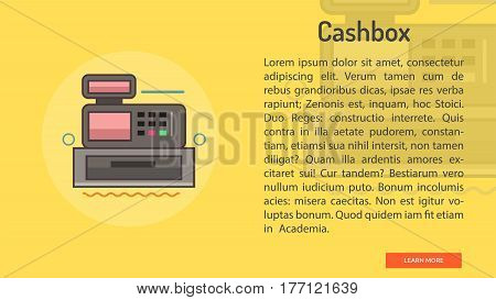 Cashbox Conceptual Banner | Great banner flat design illustration concepts for Business, Creative Idea, Marketing and much more