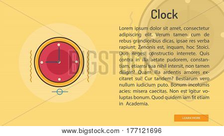 Clock Conceptual Banner | Great banner flat design illustration concepts for Business, Creative Idea, Marketing and much more