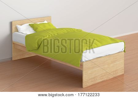 Twin Size Single Bed In Interior
