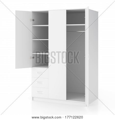 Wardrobe With Open Doors