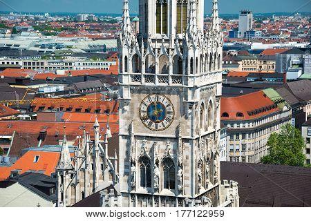 New Town Hall on Marienplatz square in Munich, Germany