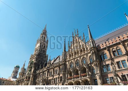 The Marienplatz is a central square in the city centre of Munich, Germany. It has been the city's main square since 1158.