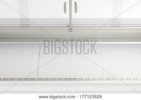 Empty Refrigerator Display Showcase