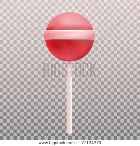 Vector realistic lollipop on the transparent background.