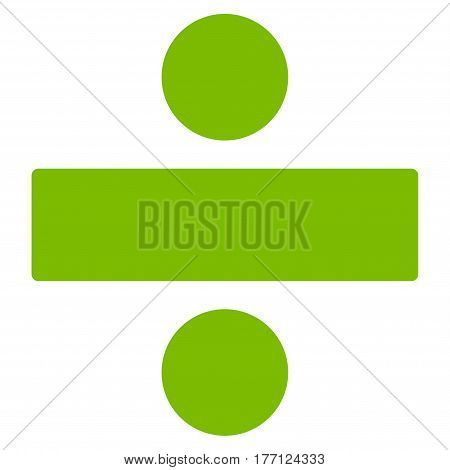 Divide Math Operation vector icon. Flat eco green symbol. Pictogram is isolated on a white background. Designed for web and software interfaces.