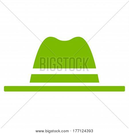 Hat vector icon. Flat eco green symbol. Pictogram is isolated on a white background. Designed for web and software interfaces.
