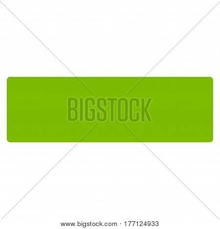 Remove vector icon. Flat eco green symbol. Pictogram is isolated on a white background. Designed for web and software interfaces.