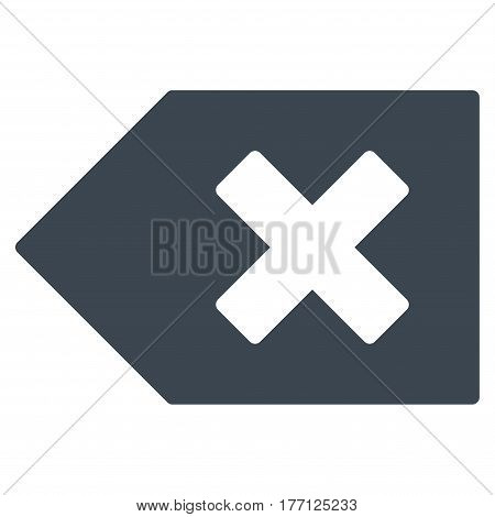 Backspace vector icon. Flat smooth blue symbol. Pictogram is isolated on a white background. Designed for web and software interfaces.
