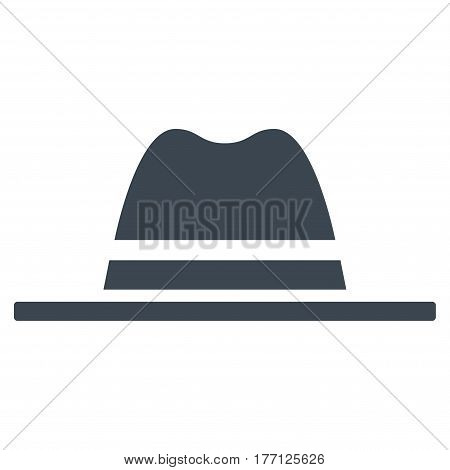 Hat vector icon. Flat smooth blue symbol. Pictogram is isolated on a white background. Designed for web and software interfaces.
