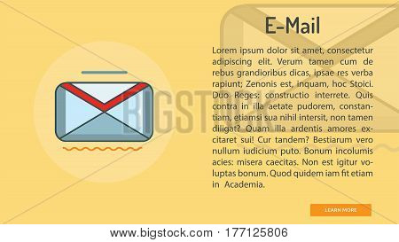 E-mail Conceptual Banner | Great banner flat design illustration concepts for Business, Creative Idea, Marketing and much more