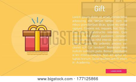 Gift Conceptual Banner | Great banner flat design illustration concepts for Business, Creative Idea, Marketing and much more