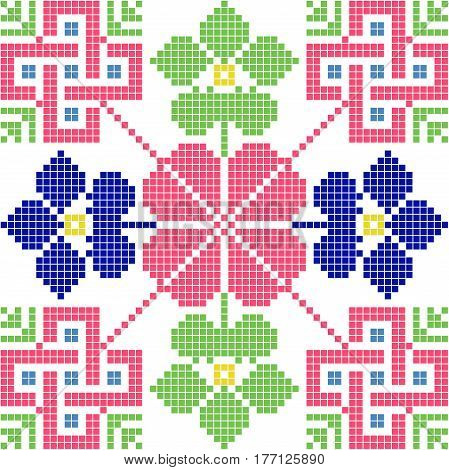 slovakia traditional ethnic folk costume motif pattern