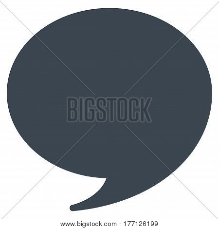 Quote vector icon. Flat smooth blue symbol. Pictogram is isolated on a white background. Designed for web and software interfaces.