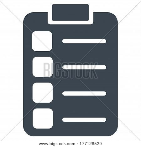 Tasks vector icon. Flat smooth blue symbol. Pictogram is isolated on a white background. Designed for web and software interfaces.