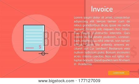 Invoice Conceptual Banner | Great banner flat design illustration concepts for Business, Creative Idea, Marketing and much more