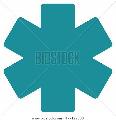 Multiply Math Operation vector icon. Flat soft blue symbol. Pictogram is isolated on a white background. Designed for web and software interfaces.