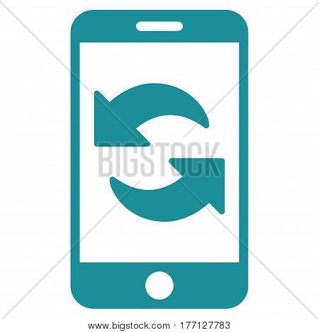 Refresh Smartphone vector icon. Flat soft blue symbol. Pictogram is isolated on a white background. Designed for web and software interfaces.