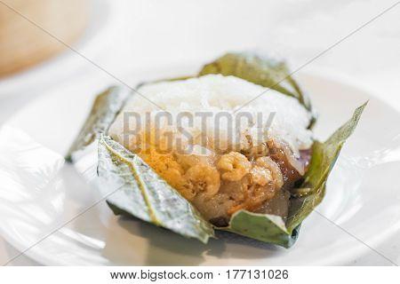 Chinese dim sum sticky rice dumpling - Chinese groumet cuisine