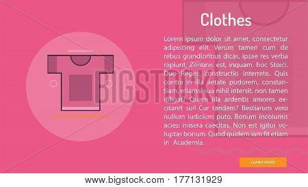 Clothes Conceptual Banner | Great banner flat design illustration concepts for Business, Creative Idea, Marketing and much more