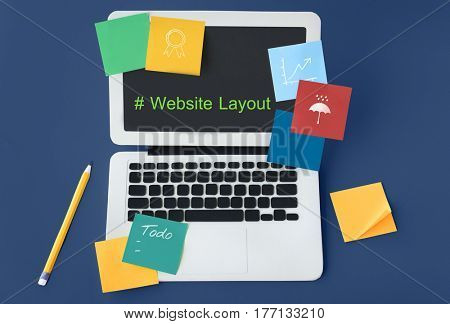 Computer Screen Show about Web Template Layout Word