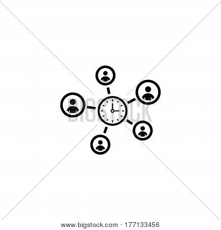 Efficiency Management Icon. Business Concept. Flat Design. Isolated Illustration