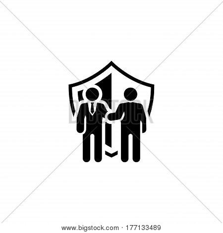 Secure Deal Icon. Flat Design. Business Concept. Isolated Illustration