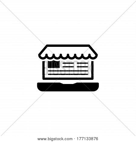 Online Store Icon. Flat Design. Business Concept. Isolated Illustration