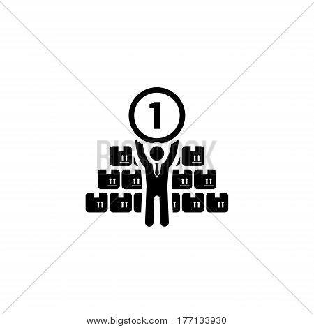 Market Leader Icon. Business Concept. Flat Design. Isolated Illustration