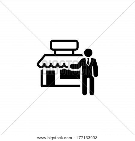 Marketing Icon. Flat Design. Business Concept. Isolated Illustration