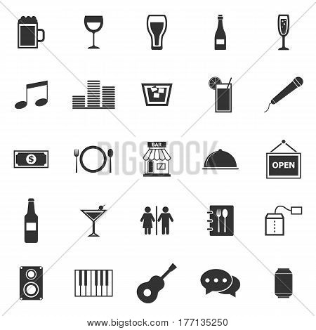 Bar icons on white background, stock vector