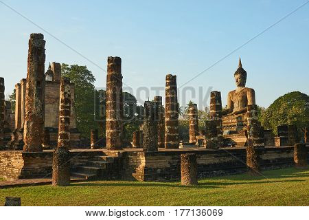 Sukhothai Historical Park, World heritage site in Thailand.