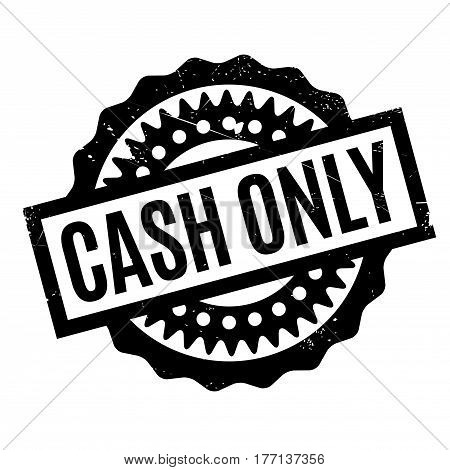 Cash Only rubber stamp. Grunge design with dust scratches. Effects can be easily removed for a clean, crisp look. Color is easily changed.