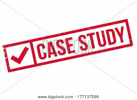 Case Study rubber stamp. Grunge design with dust scratches. Effects can be easily removed for a clean, crisp look. Color is easily changed.