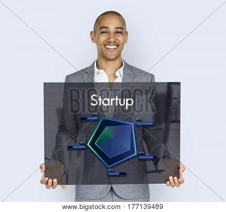 Startup Plan Business Goals Diagram