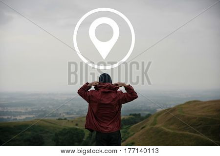 Distance Marker GPS Global Positioning System poster