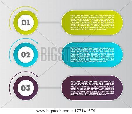 Business infographics concept set vector illustration. Data visualization, step process chart, development stage, option information, diagram elements. Colorful infographics for business presentation