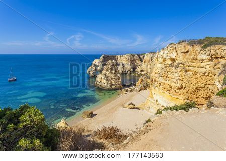Idyllic beach in Lagoa, ( Marinha beach ) Algarve Portugal