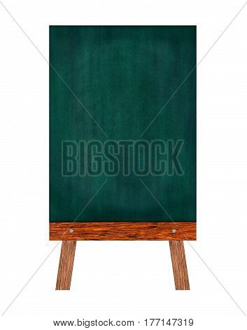Vertical Chalkboard Isolated on white background Memo board or menu and message board stand Template mock up for adding your design and adding more text. (Clipping path included)