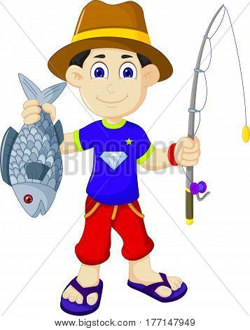 funny fishermen get a fish for you design